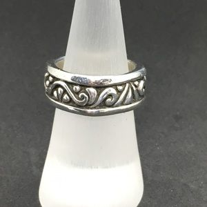 Sterling silver filigree band
